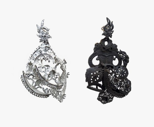 Pendientes de fallera Edu Tarin. Joyería contemporánea. Joyería de arte. Arte. Pendientes largos. Earrings