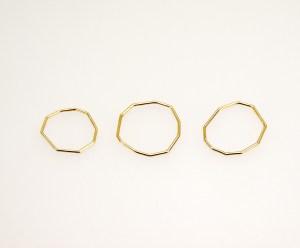 Alianzas nada o bien menos 1 oro 750/00 Diseño de Anna Kaufmann