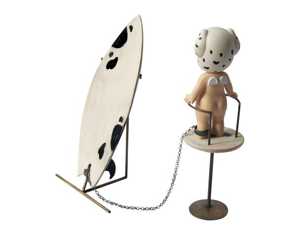 """Escultura Objeto """" WAOU PERRO QUE RE WAOU"""".Gloria-Garstaldi. Arte Barcelona. Escultura . Surf. surfear"""