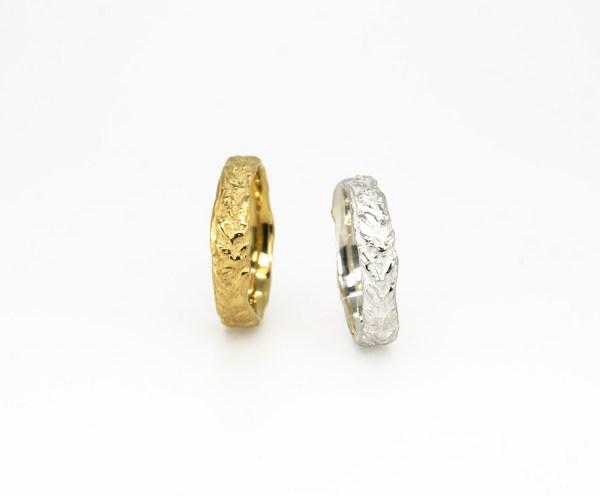 wedding rings-Laurel-Alianzas.Oro. Gold-rings-silver- plata-joyería Barcelona-Joyas de diseño