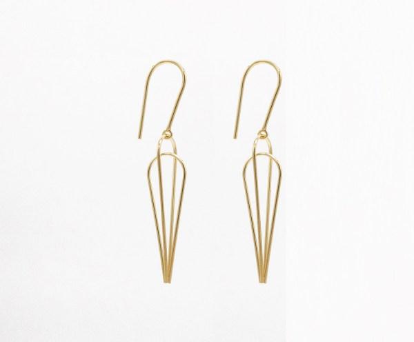 earring, ゴールド, silver, Pendientes plata chapado en oro, Sandra Llusà. Joyería Barcelona. Joyería de diseño barcelona.