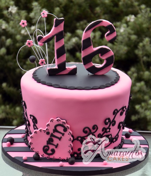 Two Tier Hat Box Cake - Amarantos Designer Cakes Melbourne