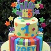 Two tier Hi 5 Cake - AC280 - Birthday Cakes Melbourne