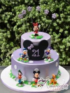 Two Tier Minnie Cake - Amarantos Designer Cakes Melbourne