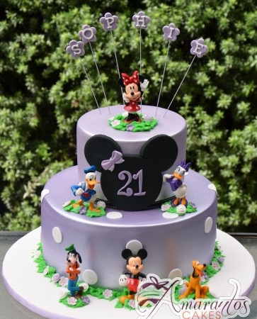 Two Tier Minnie Cake - Amarantos Designer Cakes Melbourne