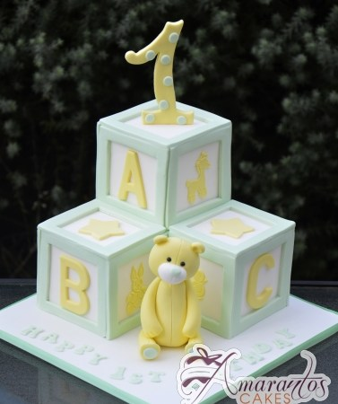 ABC Blocks Cake – AC322 – Amarantos Celebration Cakes Melbourne