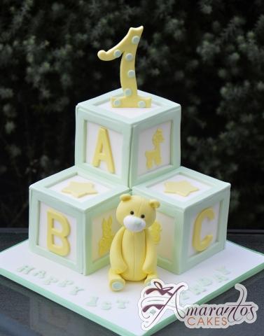 ABC Blocks Cake - Amarantos Designer Cakes Melbourne