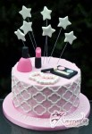 Make Up Kit With Stars Cake - Amarantos Designer Cakes Melbourne