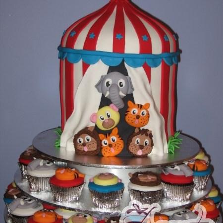 Animal Circus Cake - Amarantos Designer Cakes Melbourne