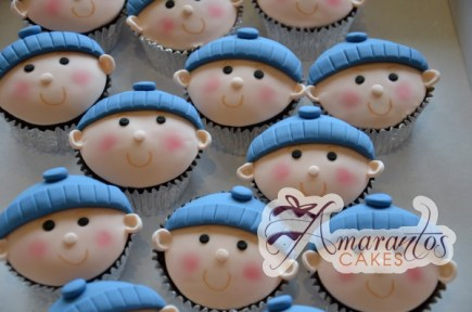 Baby face cup cakes CU36