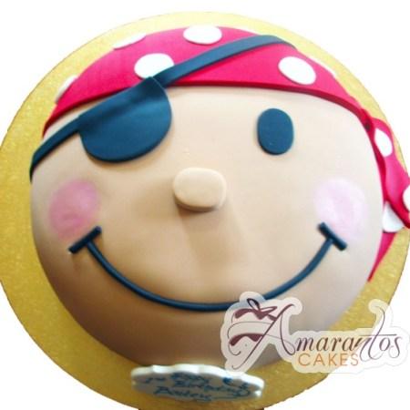 2D Pirate Face - Amarantos Cakes Melbourne
