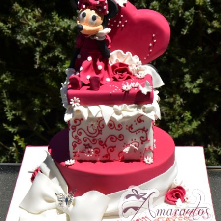 Two tier minnie cake NC326