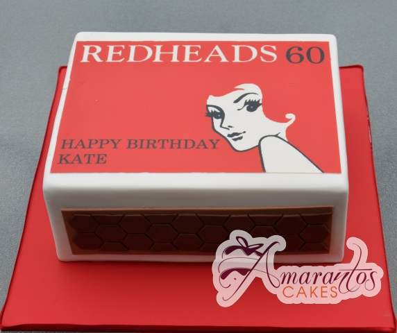RedHead Matches Cake - Amarantos Designer Cakes Melbourne