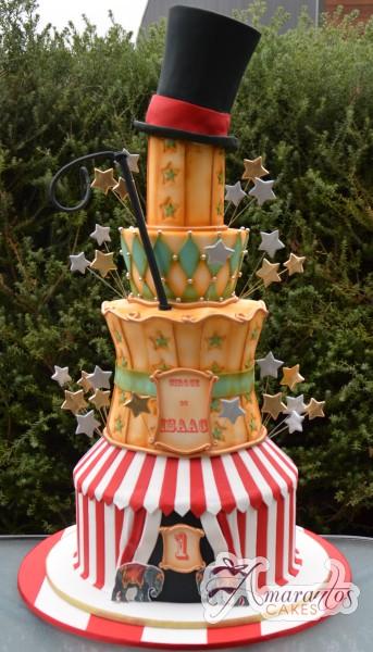 Seven tier circus themed cake - Amarantos Designer Cakes Melbourne