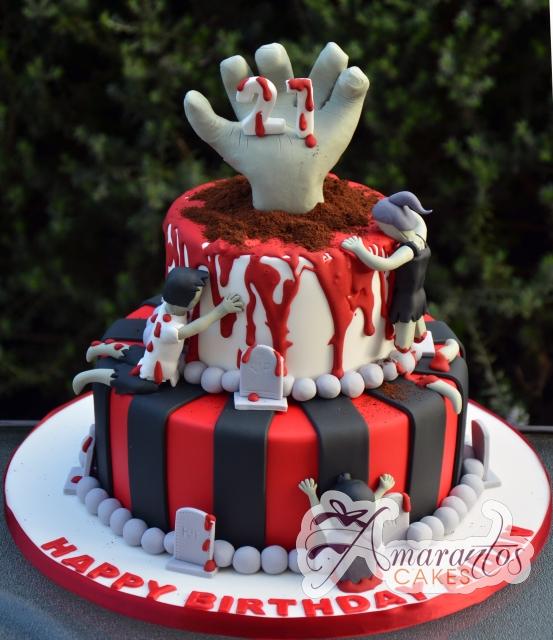Zombie Cake - NC578 - Amarantos Celebration Cakes Melbourne