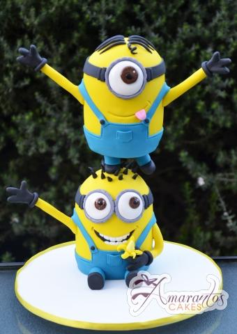 3D Minions – NC606 – Celebration Cakes Melbourne – Amarantos Cakes