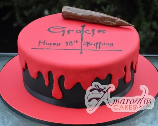 Buffy the Vampire Slayer Cake - Amarantos Designer Cakes Melbourne