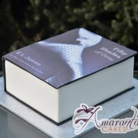 Fifty Shades of Grey Book Cake - Amarantos Designer Cakes Melbourne