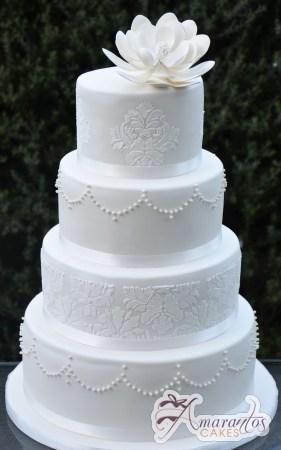 Four Tier Round Cake - WC231 - Amarantos Wedding Cakes Melbourne