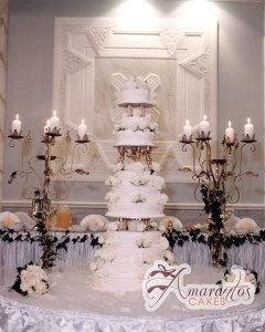 Ten Tier Cake - WC67 - Amarantos Wedding Cakes Melbourne