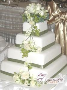 Four Tier Cake - Amarantos Wedding Cakes Melbourne