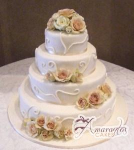 Four Tier Cake - WC80 - Amarantos Wedding Cakes Melbourne