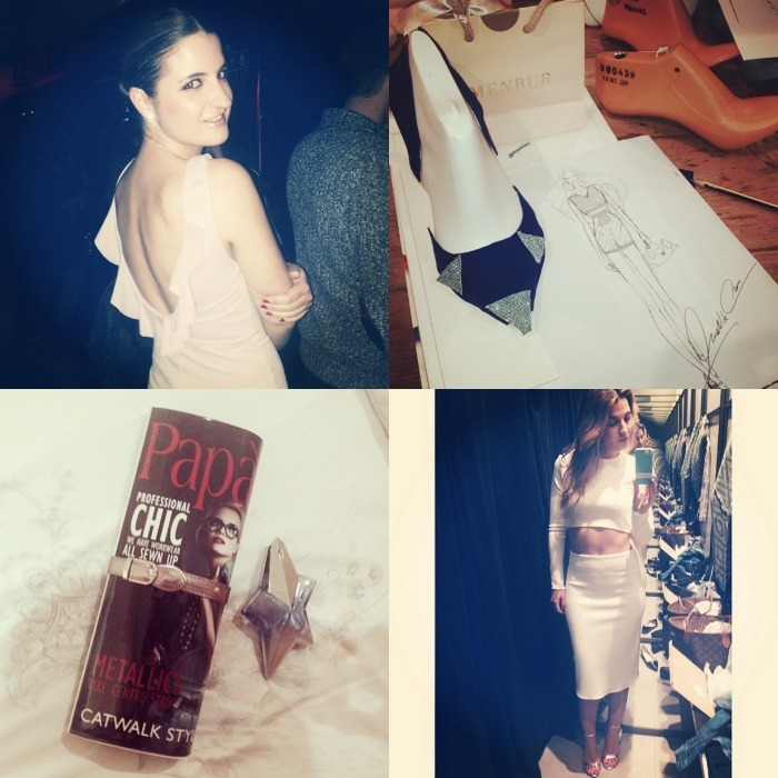 1. Party night with my new dress from Zara 2. My shoe design from Menbur 3. Magazine clutch from Asos & Angel parfum 4. Total white look from Zara