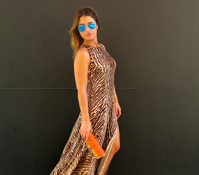 michael kors long dress leopard Amaras la moda 4