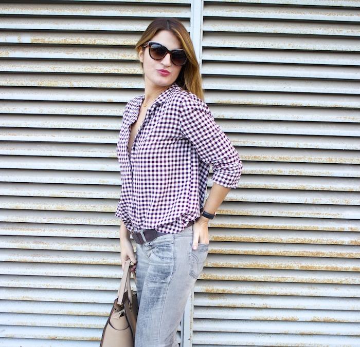 camisa cuadros zara botas mustang dolce and gabanna jeans michael kors bag amaras la moda 3