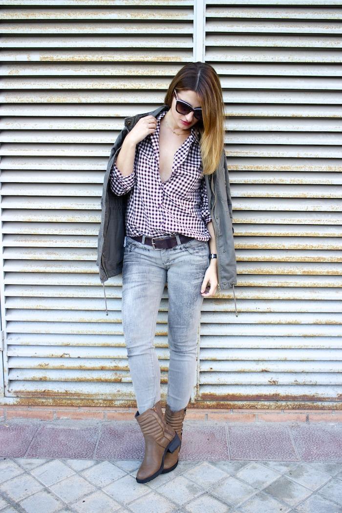 camisa cuadros zara botas mustang dolce and gabanna jeans michael kors bag amaras la moda 4