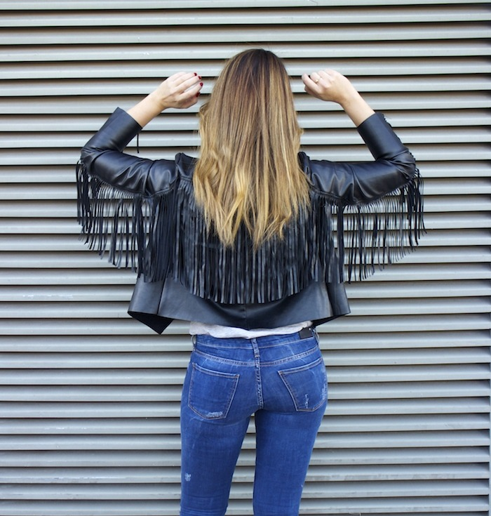 boohoo fringed jacket Prada bag Zara jeans shoes hysteresisofficial sunnies amaras la moda 4