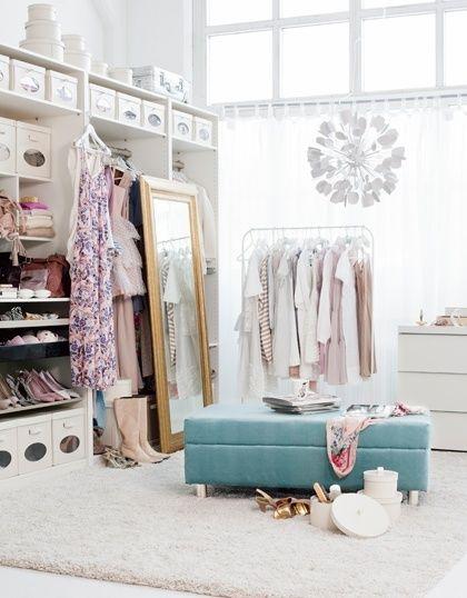 Walk in closet Inredning