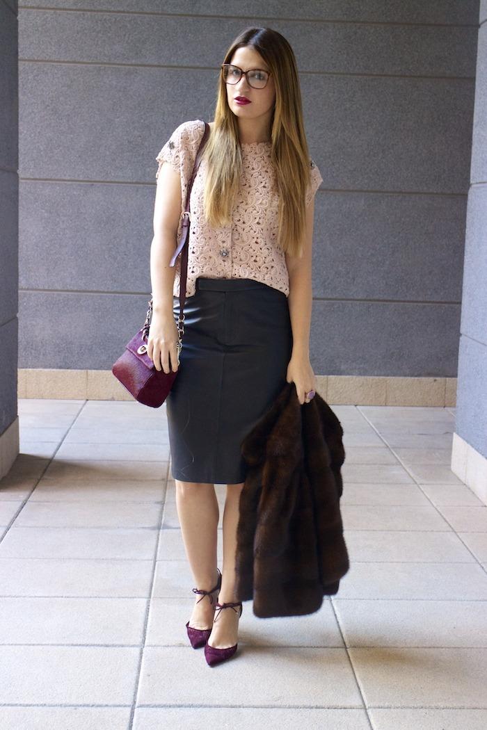 ralph lauren leather skirt dolce and gabanna top jimmy choo shoes karen millen bag 3