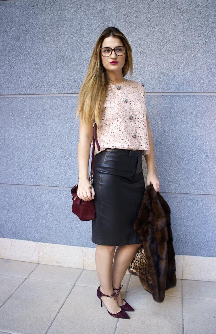 ralph lauren leather skirt dolce and gabanna top jimmy choo shoes karen millen bag 5
