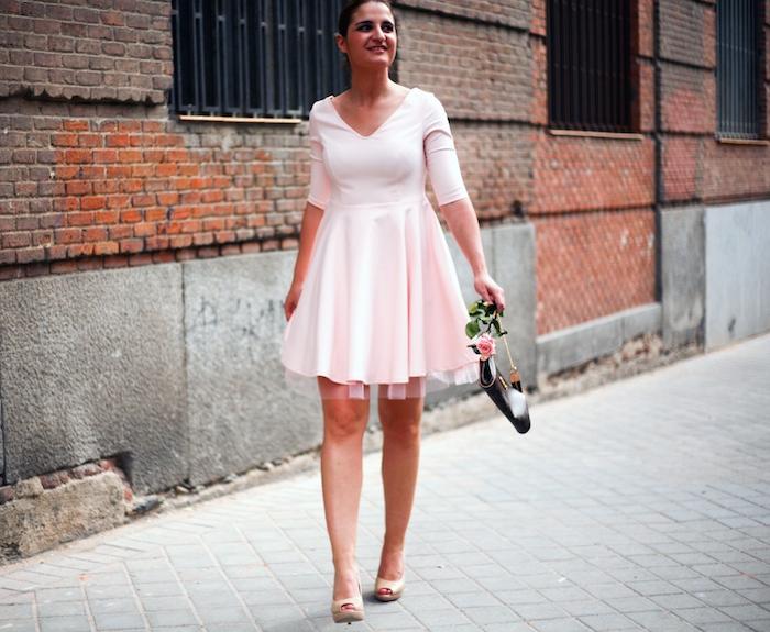 La Redoute pink dress tul amaras la moda ted Baker peeptoes 12