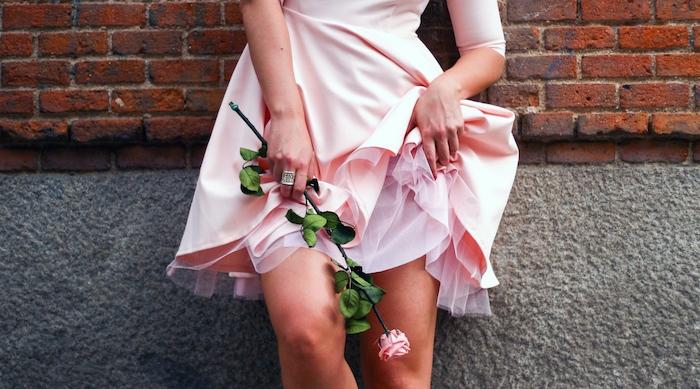 La Redoute pink dress tul amaras la moda ted Baker peeptoes 3