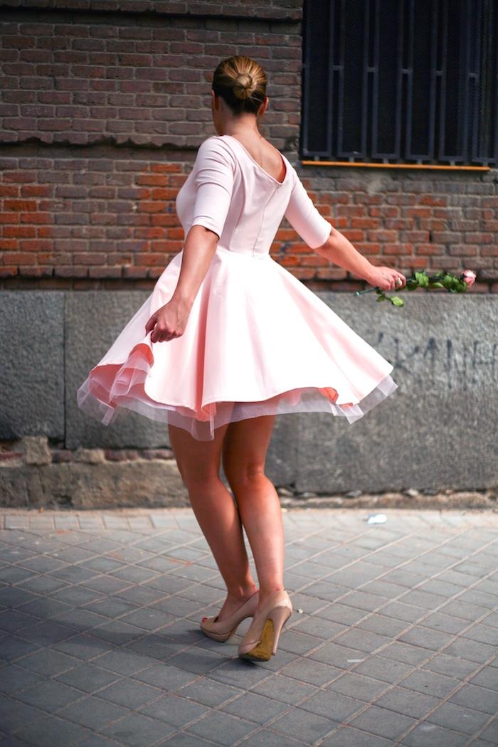 La Redoute pink dress tul amaras la moda ted Baker peeptoes 7
