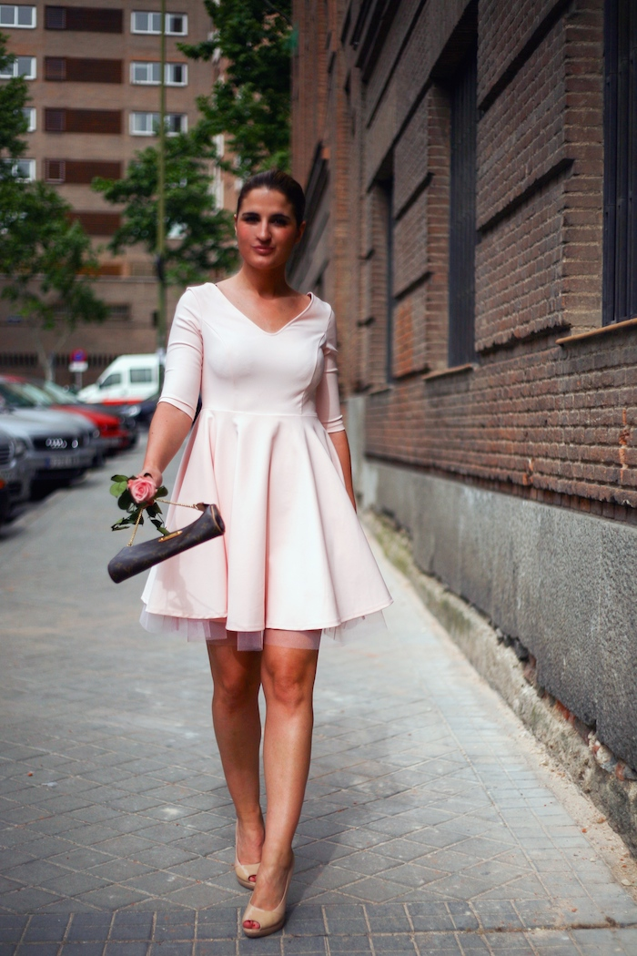 La Redoute pink dress tul amaras la moda ted Baker peeptoes 9