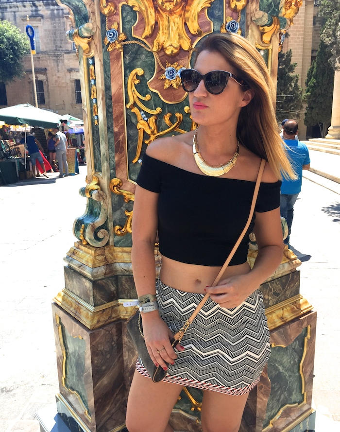 Tribal skirt louis vuitton bag amaras la moda oysho wedges MTV isleofMTV Malta 2