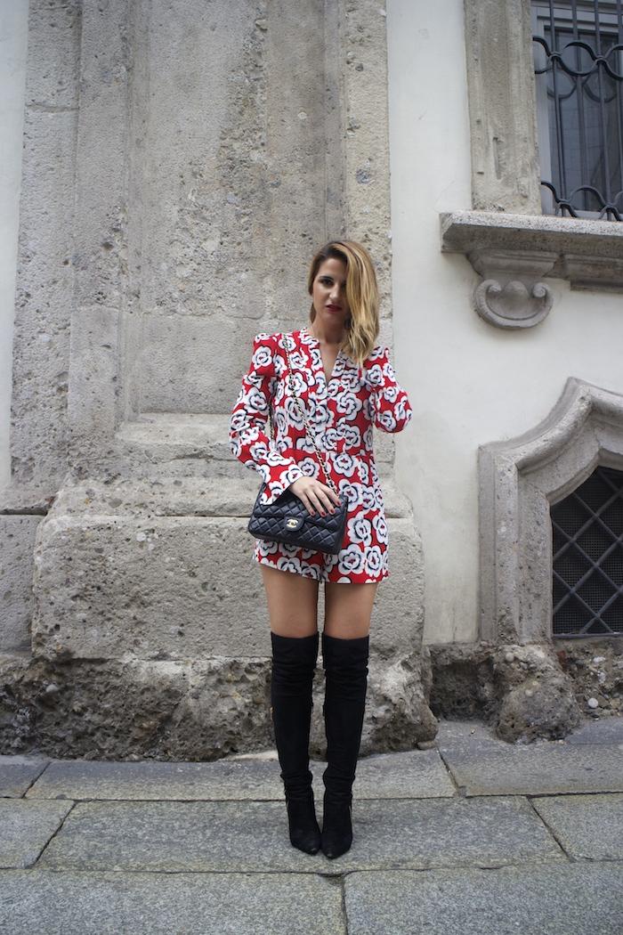 Tara Jarmon Madrid jumpsuit flowers Amarás la moda Paula Fraile 7