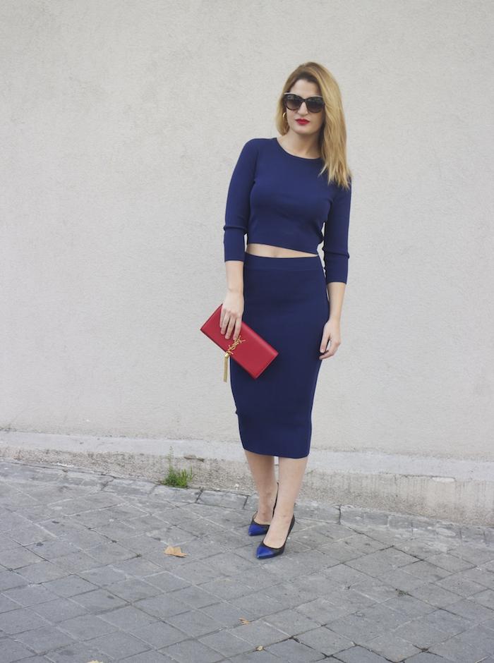 etxart and panno top and skirt Yves saint laurent bag amaras la moda Paula Fraile Fashion blogger7