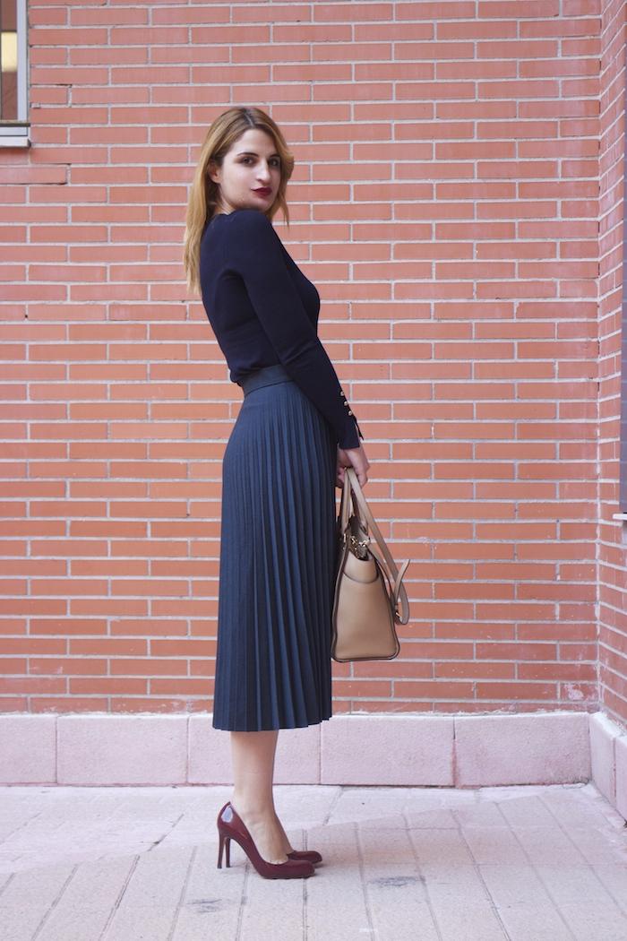 falda plisada Zara zapatos LK Bennett michael kors bag amaras la moda Paula Fraile.7