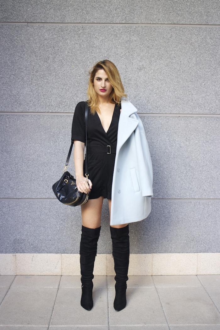 paul and joe blue coat over the knee boots amaras la moda Paula Fraile