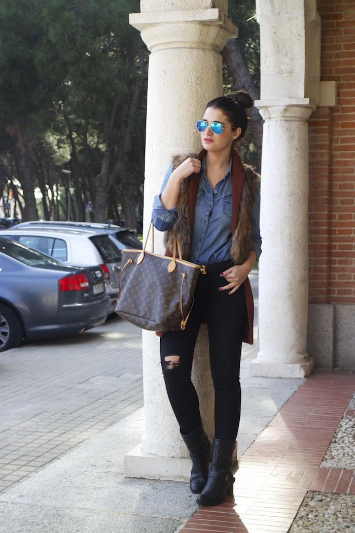 amaras la moda jeans rotos paula fraile shopping bag