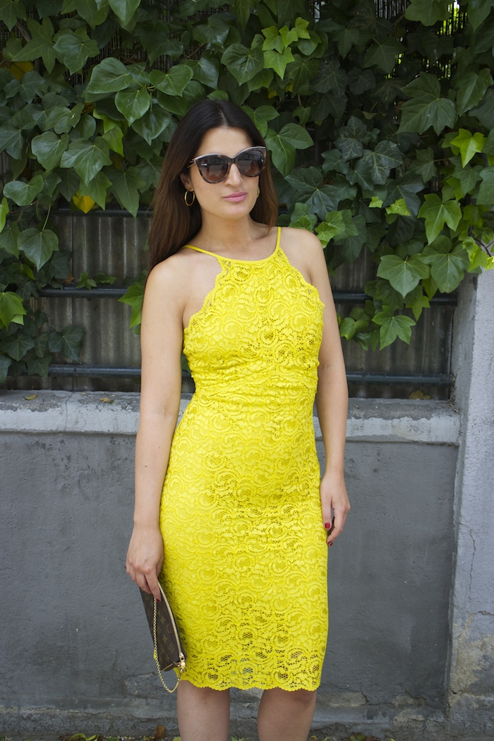 yellow dress zara amaras la moda chloe borel shoes louis vuitton bag paula fraile2
