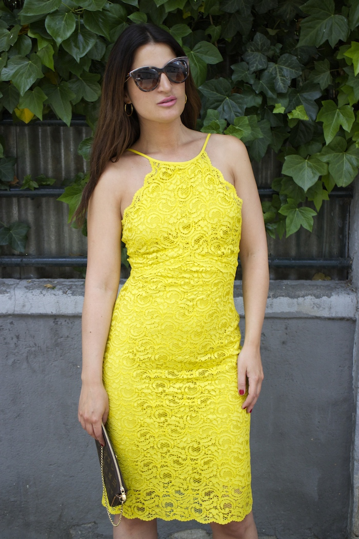 yellow dress zara amaras la moda chloe borel shoes louis vuitton bag paula fraile4