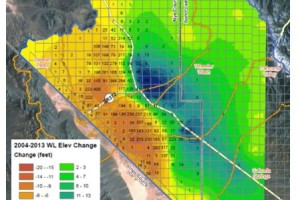 Well drawdown in the Pahrump Valley aquifer has been significant.