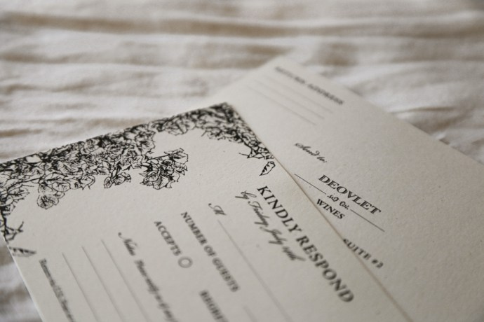 Custom Invitation Suite Design with RSVP Cards for San Luis Obispo Wine Event by Amarie Design Co.