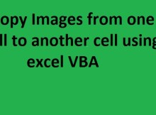 Copy Images from one cell to another cell using excel macro VBA
