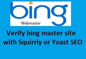 verify bing ownership webmaster tools